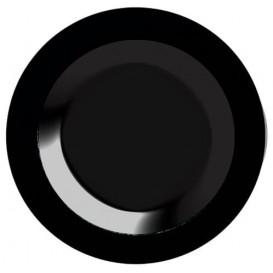 Plastikteller extra hart schwarz 23cm (20 Stück)