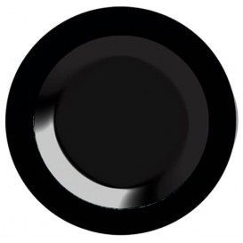 Plastikteller extra hart schwarz 23cm (200 Stück)