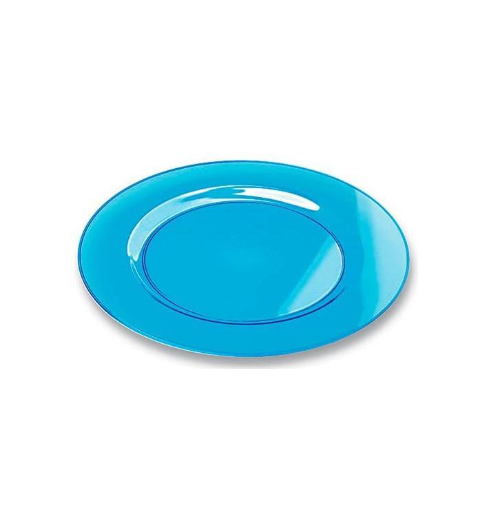 Plastikteller rund extra Stark türkis 26cm (6 Stück)