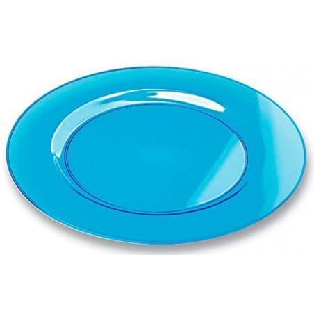 Plastikteller rund extra hart türkis 26cm (6 Stück)