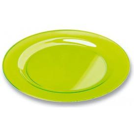 Plastikteller rund extra Stark Grün 19cm (10 Stück)