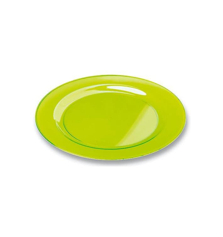 Plastikteller rund extra Stark Grün 19cm (120 Stück)