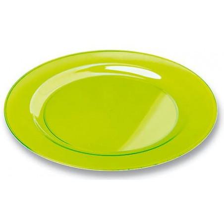 Plastikteller rund extra Stark Grün 23cm (6 Stück)