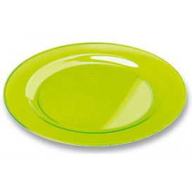 Plastikteller rund extra Stark Grün 23cm (90 Stück)