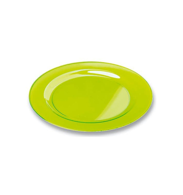 Plastikteller rund extra Stark Grün 26cm (90 Stück)