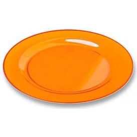 Plastikteller rund extra Stark Orange 19cm (120 Stück)