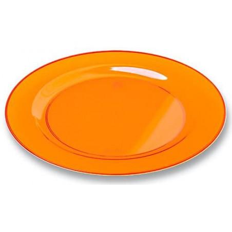 Plastikteller rund extra hart Orange 26cm (6 Stück)