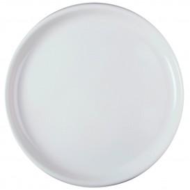 Plastikteller Rund für Pizza Weiß Ø350mm (72 Stück)