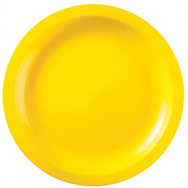 Plastikteller Rund Gelb Round PP Ø290mm (150 Stück)