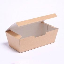 SnackBox mit Deckel To Go Kraft 16,5x7,5x6cm (25 Stück)