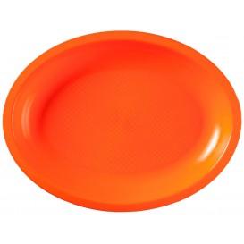 Plastiktablett Oval Orange Round PP 315x220mm (150 Stück)