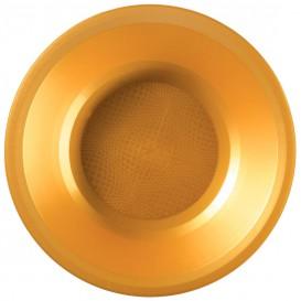 Plastikteller Rund Tief Gold Round PP Ø195mm (25 Stück)