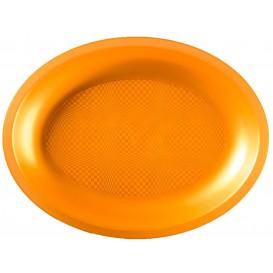 Plastiktablett Oval Gold Round PP 255x190mm (125 Stück)