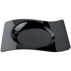 """Plastikteller """"Forma"""" Schwarz 28x23 cm (12 Stück)"""