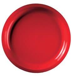 Plastikteller Rund Rot Round PP Ø290mm (25 Stück)