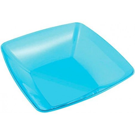 Plastikschüssel PS Glasklar Hart Türkis 3500ml (20 Stück)