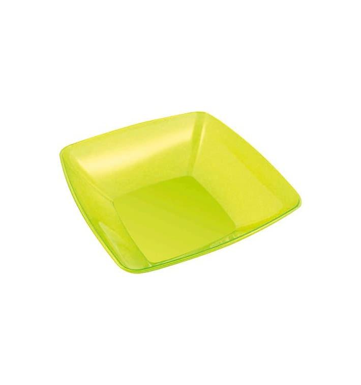 Viereckige Plastikschale grün 28x28cm (20 Stück)