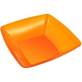 Viereckige Plastikschale orange 28x28cm (20 Stück)