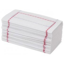 """Papierservietten """"ZigZag"""" 14x14 blau und rot (250 Stück)"""
