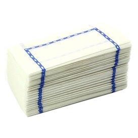 Papierservietten mit Zickzackfalz Weiß Muster 14x14cm (300 Stück)