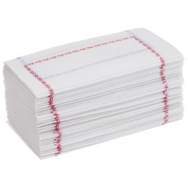 Papierservietten mit Zickzackfalz Weiß Muster 14x14cm (30000 Stück)