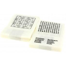 """Spenderservietten Papier Miniservis """"Zeitvertreib"""" 17x17cm (200 Stück)"""