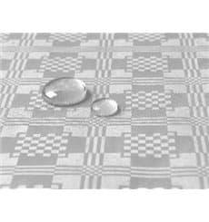 Tischdecke wasserdicht silber 5x1,2 Meterware (10 Einh.)