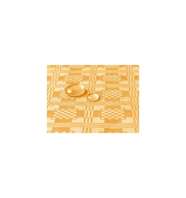 Tischdecke wasserdicht gold 1,2x5 Meterware (10 Einh.)
