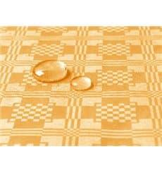Tischdecke wasserdicht gold 5x1,2 Meterware (10 Einh.)