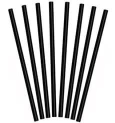 "Trinkhalme starr ""JUMBO"" schwarz Ø8mm 25cm (1.000 Stück)"
