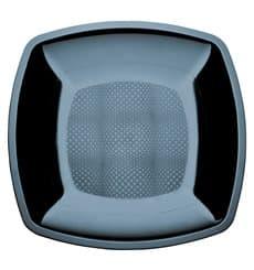 Plastikteller Flach Schwarz Square PS 180mm (25 Stück)