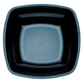 Plastikteller Tief Schwarz Square PS 180mm (25 Stück)