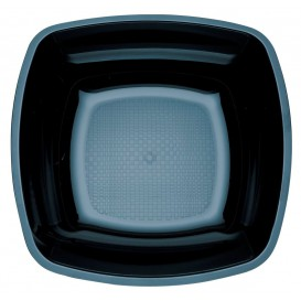 Plastikteller Tief Schwarz Square PS 180mm (150 Stück)