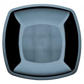 Plastikteller Flach Schwarz Square PS 230mm (150 Stück)