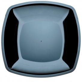 Plastikteller Flach Schwarz Square PS 300mm (12 Stück)