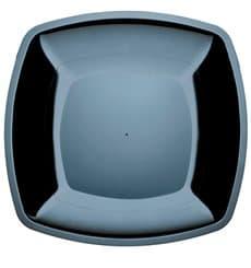 Plastikteller Flach Schwarz Square PS 300mm (144 Stück)
