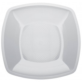 Plastikteller Glatt Weiß 180mm (150 Stück)