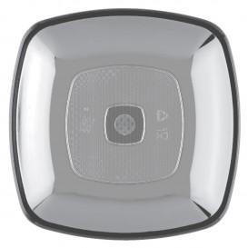 Plastikteller Flach Transparent Square PS 180mm (25 Stück)