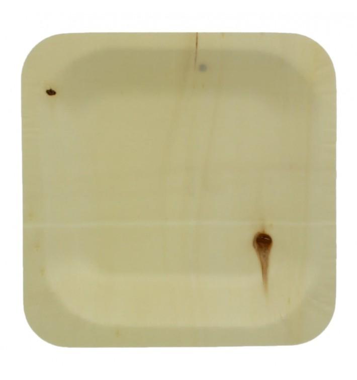 Teller aus holz 11,5x11,5cm (25 Einheiten)