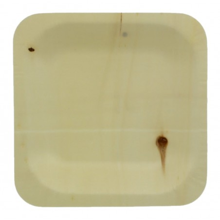 Teller aus Holz 11,5x11,5cm (50 Stück)
