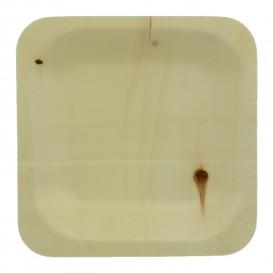 Teller aus holz 11,5x11,5cm (350 Einheiten)
