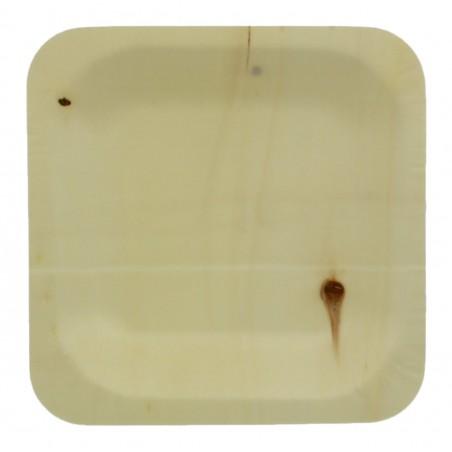 Teller aus Holz 11,5x11,5cm (400 Stück)
