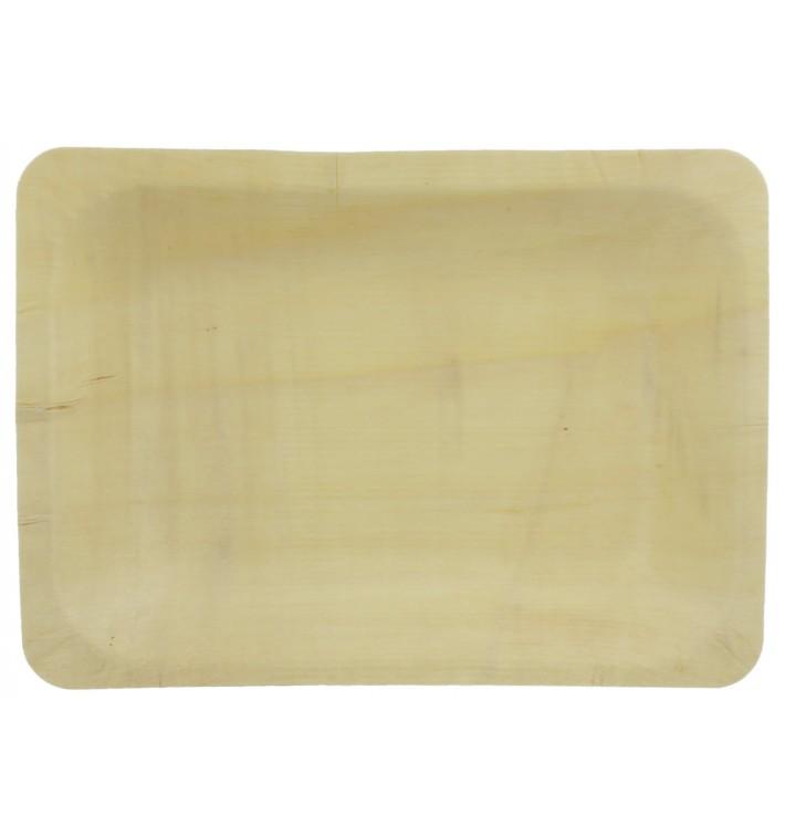 Teller aus holz rechteckig 19,5x14x3cm (300 Einheiten)