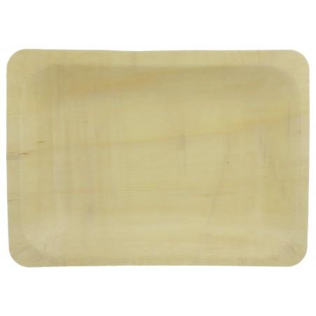 Tablett aus Holz rechteckig 19,5x14x3cm (300 Einheiten)