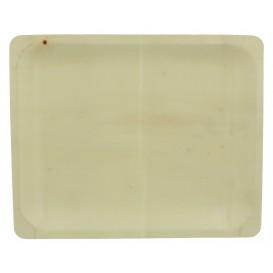 Teller aus holz rechteckig 26x21,5x2cm (200 Einheiten)