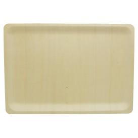 Teller aus holz rechteckig 40x28x2cm (10 Einheiten)