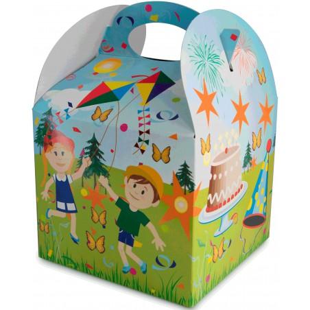 Pappkartons Kindermenü Feier 131x131x115mm (25 Stück)