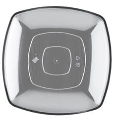 Plastikteller Flach Transparent Square PS 300mm (144 Stück)