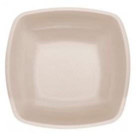 Plastikteller Tiefe Beige Square PP 180mm (25 Stück)