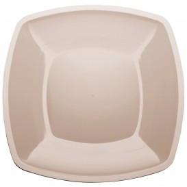 Plastikteller Flach Beige Square PS 300mm (72 Stück)